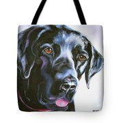 Black Lab No Ordinary Love Tote Bag