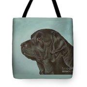 Black Labrador Dog Profile Painting Tote Bag