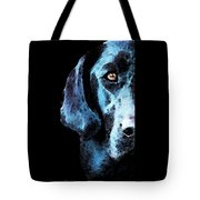 Black Labrador Retriever Dog Art - Hunter Tote Bag by Sharon Cummings