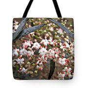 Black Lace Elderberry With Raindrops Tote Bag
