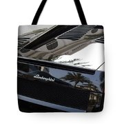 Black Lamborghini Sports Car  Tote Bag
