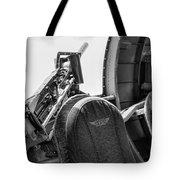 Black Machine Gun Wwii Tote Bag