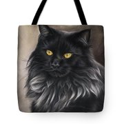 Black Maine Coon Tote Bag