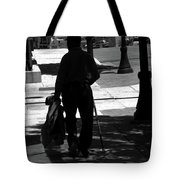 Black Man With Cane Tote Bag