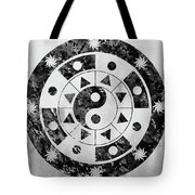 Mandala-black Tote Bag