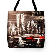 Black Manhattan Tote Bag