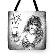 Black Metal Girl. Sofia Metal Queen. Sketch  Tote Bag
