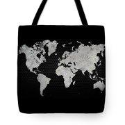 Black Metal Industrial World Map Tote Bag