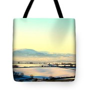 Black Mountains And Vale Of Usk Tote Bag