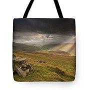 Black Mountains Light Rays Tote Bag