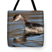 Black-necked Grebe About To Dive Tote Bag