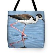 Black-necked Stilt Wading  Tote Bag
