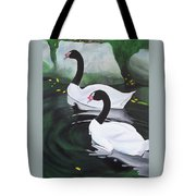Black Necked Swans Tote Bag