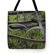 Black On Green Tote Bag