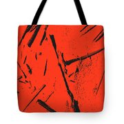 Black On Red Tote Bag