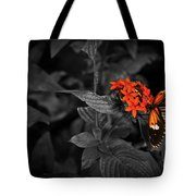 Black-orange Butterfly Tote Bag