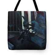 Black Orchid And Horse Tote Bag