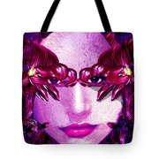 Black Orchid Eyes Tote Bag