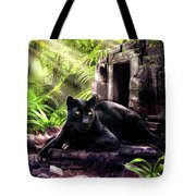 Black Panther Custodian Of Ancient Temple Ruins  Tote Bag