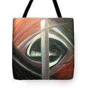 Black Red And White Abstract Tote Bag