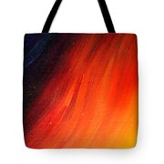 Black-red-yellow Abstract Tote Bag