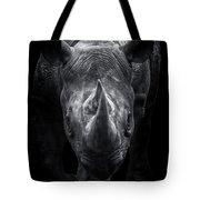 Black Rhinoceros Walking Towards You Tote Bag