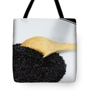Black Rice Tote Bag by Michael Tesar