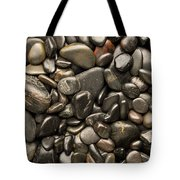 Black River Stones Portrait Tote Bag by Steve Gadomski
