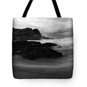 Black Rock  Swirl Tote Bag by Mike  Dawson