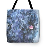 Black Russian Terrier In Snow Tote Bag