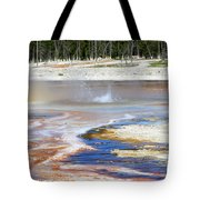 Black Sand Basin Geysers In Yellowstone National Park Tote Bag