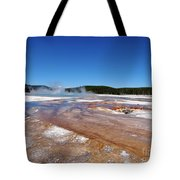 Black Sand Basin In Yellowstone National Park Tote Bag
