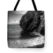 Black Sand Beach Tote Bag by Break The Silhouette