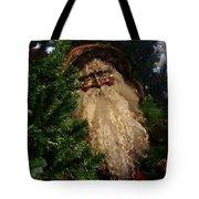 Black Santa Tote Bag
