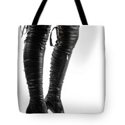 Black Sexy Thigh High Stiletto Boots Tote Bag