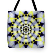 Black, White And Yellow Sunflower Tote Bag
