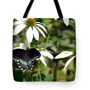Black Swallowtail Tote Bag