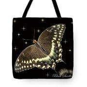 Black Swallowtail On Black Tote Bag