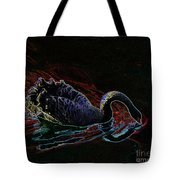 Black Swan In Color Tote Bag