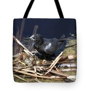 Black Tern On Nest Tote Bag