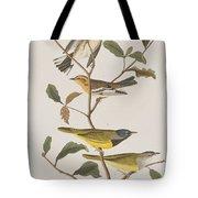 Black Throated Green Warbler Blackburnian Mourning Warbler Tote Bag