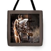 Black Tongue Of The Giraffe Tote Bag