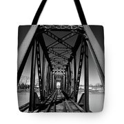 Black Tracks Tote Bag