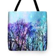 Black Trees Bright Pastel Space Tote Bag