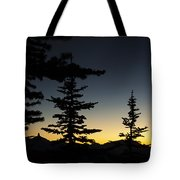 Black Tusk Sunset Tote Bag