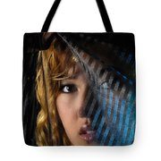 Black Veil Tote Bag