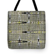 Black Walnut Drawing With Yellow Abstract Tote Bag