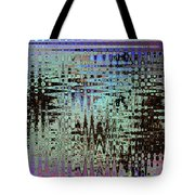 Black Walnut Ink Tepary Bean Abstract Tote Bag