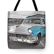 Black White And Blue Tote Bag