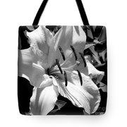 Black White Lilly Tote Bag by Kip Krause